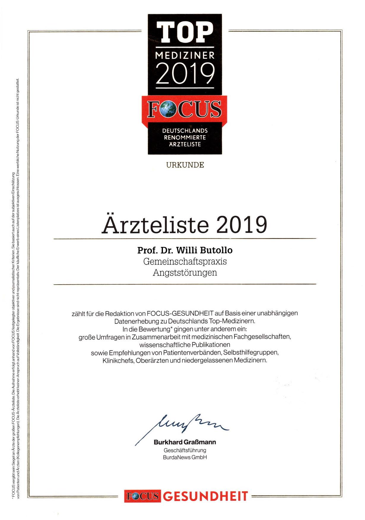 Focus Ärzteliste 2019